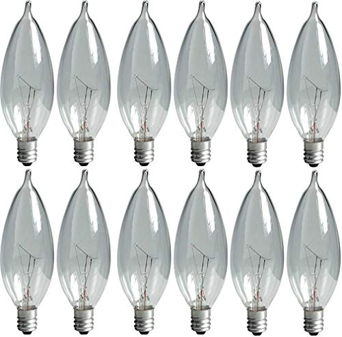 GE Crystal Clear Bent Tip Decorative Light Bulbs