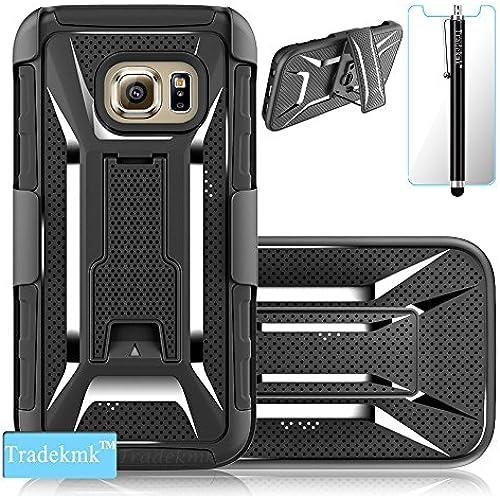 Galaxy S7 Case,S7 Case,Tradekmk(TM); Dual Layer Design Shock Absorbent Back Case Locking Belt Swivel Clip And Stand Samsung Galaxy S7 Case,(+Stylus+Screen Sales