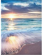Cross Stitch Stamped Kits Full Range Beginners Starter Embroidery Kits 11CT DIY Handicraft Needlepoint for Kids and Adults Beach 16x20inch