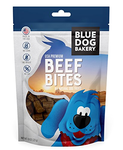 Blue Dog Bakery Natural Dog Treats, Grain Free Beef Bites, 7.8 Ounce Bag