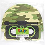 Paper Camo Party Masks, 4ct