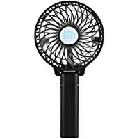 Simpeak Portable Handheld Mini Fan Electric Foldable Hand Fan with 18650 Battery for Home and Travel, Black
