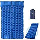 Elegear Inflatable Camping Sleeping Pad - Ultralight Air Mattress/Mat for Backpacking, Bikepacking, Hiking - Lightweight for Travel and Outdoors - Durable Support Airpad Compact Stable Thick - Double (Color: Blue, Tamaño: Full)