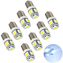Eaglerich 10 Pcs 5SMD 5050 LED T11 BA9S White Red Green Blue Yellow T4W 182 1445 H6W 53 Car Indicators Bulb Light Wedge Lamp