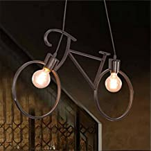 Nordic Iron Industry Wind Retro Individuality Light loft net bar bar creative art bike chandelier / 61x37cm