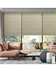 Yoolax Smart Motorized Cellular Shade Compatible with Alexa Google Home Electric Automatic Honeycomb Blinds