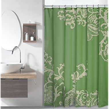 Luxury Fabric Shower Curtain with Floral Pattern (Sage)