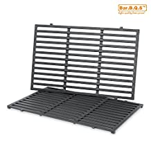 Bar.b.q.s Cast-Iron Cooking Grates Replacement for Weber 7524 Fits For Weber E-330 Grills and Selected Charmglow Grills, Set of 2