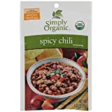 Simply Organic Spicy Chili Seasoning Mix , 28g (Pack of 6)