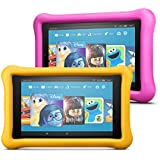 Fire 7 Kids Edition Tablet 2-Pack, 16GB (Pink/Yellow) Kid Proof Case