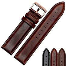 MSTRE NP81 20mm Unisex Watch Strap Calfskin Leather Watch Band Suitable For DW Watches (20mm, Brown)