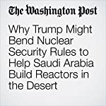 Why Trump Might Bend Nuclear Security Rules to Help Saudi Arabia Build Reactors in the Desert | Steven Mufson