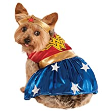 Rubies Costume Co DC Heroes and Villains Collection Pet Costume, Small, Wonder Woman