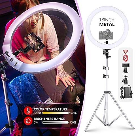 Neewer Upgraded 18-inch Ring Light Metal Video Lighting Kit: 42W - Sale: $118.99 USD (15% off)