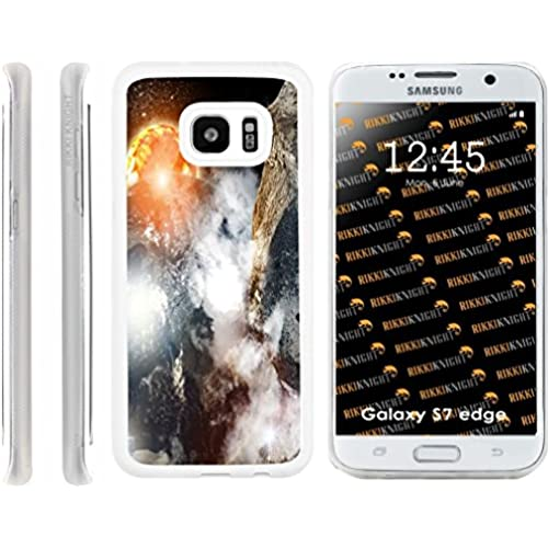 Rikki Knight Space Earth Galaxy Moon Celestial Cosmos Nebula Design Samsung Galaxy S7 Edge Case Cover (Clear Rubber Sales