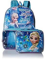 Disneys Elsa Frozen Backpack & Clear Pocket Lunchbox Bag