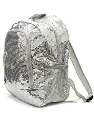 Sequins Bling Bling Backpack - SILVER