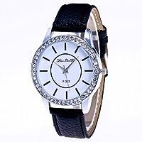 Womens Watch,Howstar Womens Diamonds Pattern Faux Leather Analog Quartz Vogue Watches