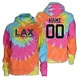 JANT Girl Custom Lacrosse Tie Dye Sweatshirt - Charcoal LAX Logo