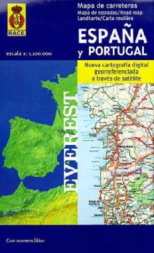 Mapa de carreteras de España y Portugal. 1:1.100.000: Nueva ...