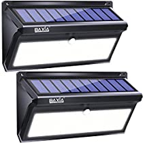 BAXIA TECHNOLOGY Solar Lights Outdoor, Wireless 100 LED Solar Motion Sensor Lights, Easy Install Waterproof Security Lighting for Front Door, Back Yard, Steps, Garage, Garden (2000LM,2PACK)