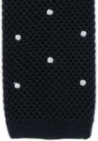 Navy/White Spot Design Tie by Michelsons of London