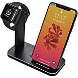 BNCHI Apple Watch Stand And iPhone X Wireless Charger for Apple iWatch/iphone 8/8 Plus, Best Gifts (Black)