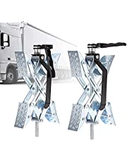 X Chock Wheel Stabilizer Wheel Chock Camper Accessories for Travel Trailers,Open 3.5'' to 10'', 2 Packs, for RV/Campers/Travel Trailers/Trucks