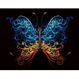 Butterfly Wall Mural Decal Print. Easy Peel & Stick, Removable & Repositionable. Made in the USA. No Glue Needed #6024 48in X 72in (4ft Tall X 6ft Wide)