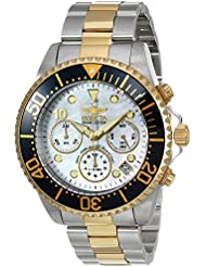 Invicta Mens Pro Diver Quartz Stainless Steel Casual Watch, Color:Two Tone (Model: 22038)