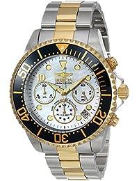Men's 'Pro Diver' Quartz Stainless Steel Casual Watch, Color:Two Tone (Model: 22038)