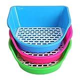 Pet Square Potty Trainer Corner Litter Bedding Box Tray Training for Hamster Pig Cat Bunny Ferret Random Color