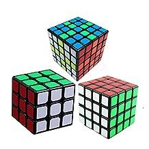 Qm-h 3x3x3 4x4x4 5x5x5 Sticker Speed Cube Puzzle Classical Rubiks Black