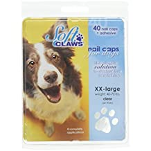 Soft Claws Dog and Cat Nail Caps Take Home Kit, XX-Large, Black