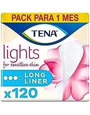 Lights by TENA Long Liner, voor lichte blaaszwakte, maandelijkse verpakking van 120 Incontinentie Liners voor vrouwen