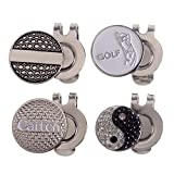 Andux 4pcs/set Golf Hat Clips with Golf Ball Markers 4 Pack GMJ-01