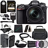 Nikon D500 DSLR Camera with 16-80mm Lens + Rechargable Li-Ion Battery + Home and Car External Charger + Sony 128GB SDXC Card + HDMI Cable + Case + Remote + Memory Card Reader + Cloth + Flash Bundle