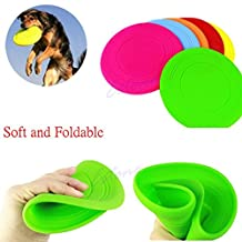 1pc Dog Frisbee Flying Disc Tooth Resistant Outdoor Large Dog Training Fetch Toy