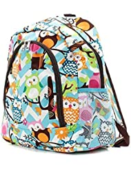 Owl Chevron Print Backpack AQBRN