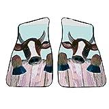 Cow Art Auto Car Floor Mats
