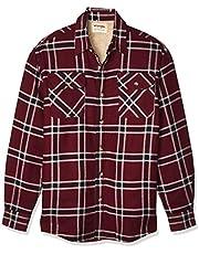 Wrangler Authentics Men's Long Sleeve Sherpa Lined Flannel Shirt