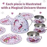 Lucy Locket Magical Unicorn Kids Metal Tea Set