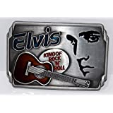 Elvis Presley The King Rock & Roll Music Belt Buckle Belts ~ Ships from Ontario, Canada