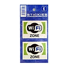 WIFI Zone Stickers For Shop/Office/Vehicle [Pair]