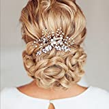 Unicra Vintage Wedding Hair Combs with Bead and