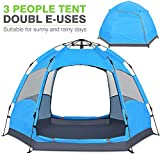 Victostar Instant Pop Up Family Camping Tent,Double Layer Waterproof 4 Season for Picnic