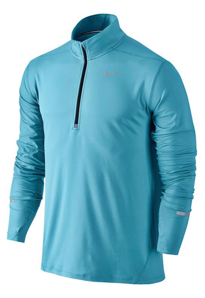NIKE Men's Dry Element Running Top B01JI6Y8OA Small|Vivid Sky/Reflective Silver