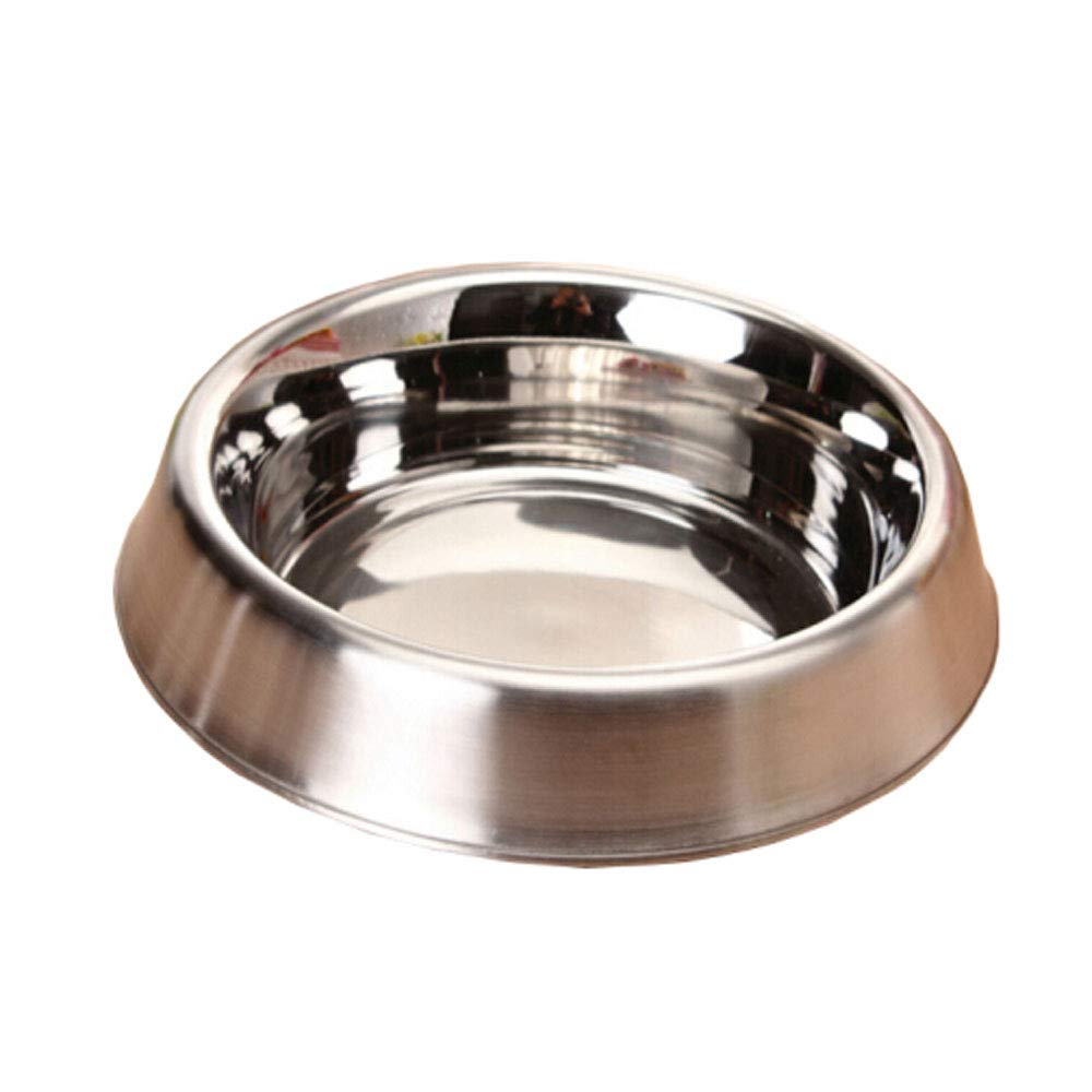 6.24.61.4 XIAN Stainless Steel Dog Bowl with Rubber Base for Small Medium Large Dogs, Pets Feeder Bowl and Water Bowl Perfect Choice Easy to Clean Non-Skid Bowls for Dogs (Size   6.2  4.6  1.4)