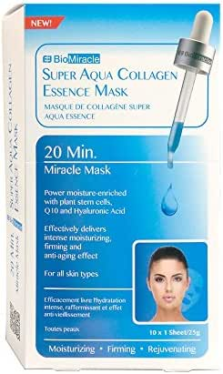 Bio-Miracle Super Aqua Collagen Essence Mask, 10 Count