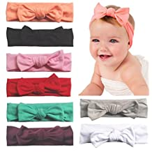 Toptim Baby Headbands Turban Knotted, Girl's Hairbands for Newborn, Toddler and Children's, Assorted Colors